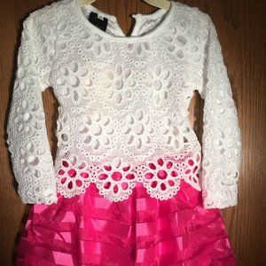 DRESS YOUR ANGEL IN WHITE AND PINK SIZE 3T NEW